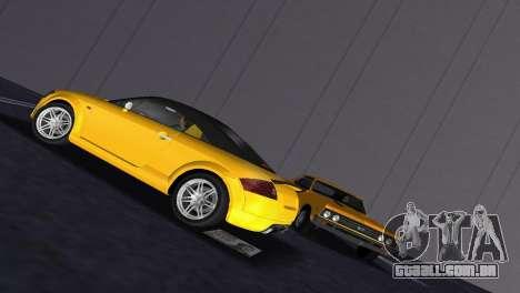 Audi TT Coupe BiMotor Black Revel para GTA Vice City vista traseira