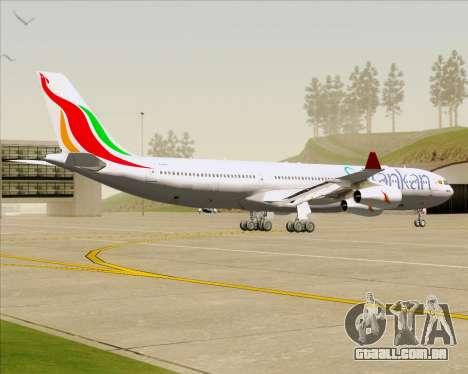 Airbus A340-313 SriLankan Airlines para GTA San Andreas vista traseira