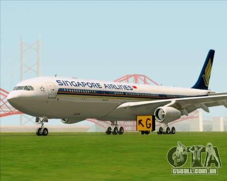 Airbus A340-313 Singapore Airlines para GTA San Andreas esquerda vista