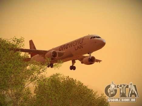 Airbus A320-214 LAN Oneworld para GTA San Andreas vista inferior