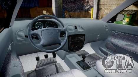Daewoo Nubira I Sedan S PL 1997 para GTA 4 vista de volta