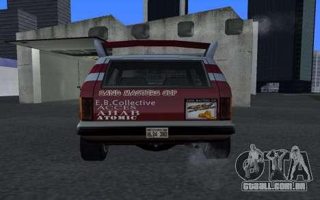 Atualizado Sandking para GTA San Andreas traseira esquerda vista