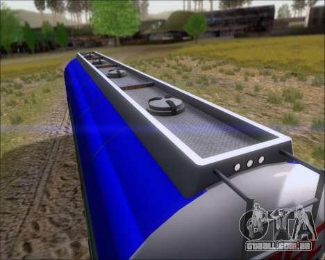 Tanque de reboque Carro Copec para GTA San Andreas vista interior