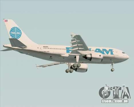Airbus A310-324 Pan American World Airways para GTA San Andreas vista traseira
