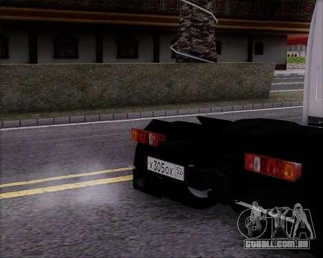 GAZel 3302 para GTA San Andreas traseira esquerda vista