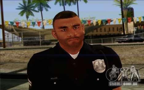 Polícia (GTA 5) Pele 4 para GTA San Andreas terceira tela