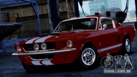 Shelby Cobra GT500 1967 para GTA 4 traseira esquerda vista