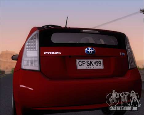 Toyota Prius para GTA San Andreas vista superior
