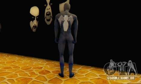Skin The Amazing Spider Man 2 - DLC Black Suit para GTA San Andreas terceira tela