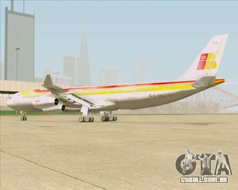 Airbus A340 -313 Iberia para GTA San Andreas vista traseira