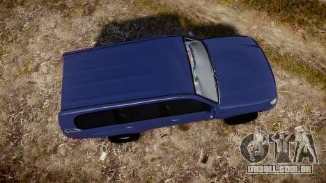 Toyota Land Cruiser para GTA 4 vista direita