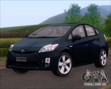 Toyota Prius para GTA San Andreas traseira esquerda vista