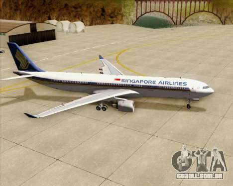 Airbus A330-300 Singapore Airlines para GTA San Andreas vista superior