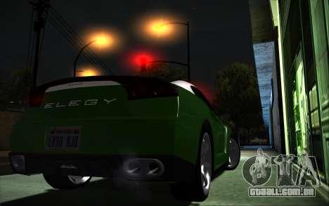 Elegy RH8 Tunable v1 para GTA San Andreas esquerda vista
