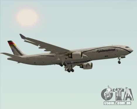 Airbus A330-300 Fly International para GTA San Andreas vista traseira