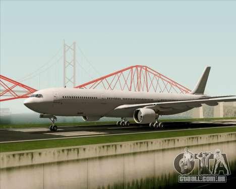 Airbus A330-300 Full White Livery para GTA San Andreas vista traseira