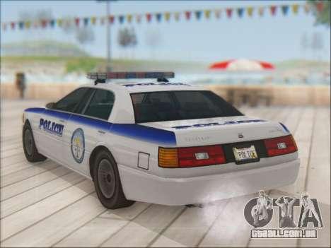 Admiral Police para GTA San Andreas vista inferior