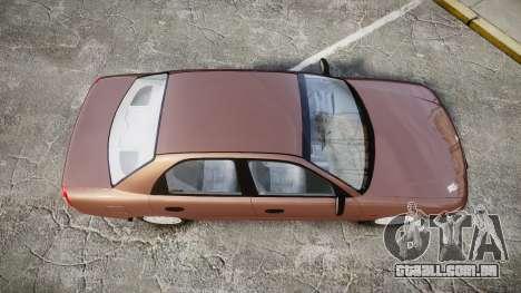 Daewoo Nubira I Sedan S PL 1997 para GTA 4 vista direita