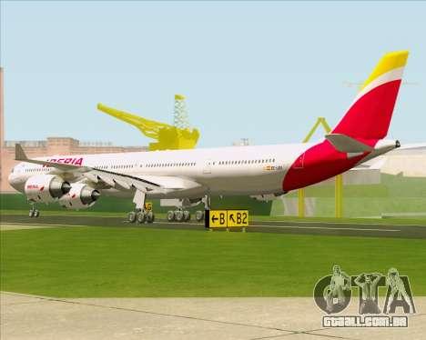 Airbus A340-642 Iberia Airlines para GTA San Andreas traseira esquerda vista