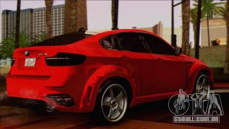 BMW X6M Lumma para GTA San Andreas esquerda vista