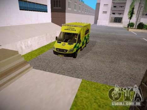 Mercedes-Benz Sprinter London Ambulance para GTA San Andreas vista traseira