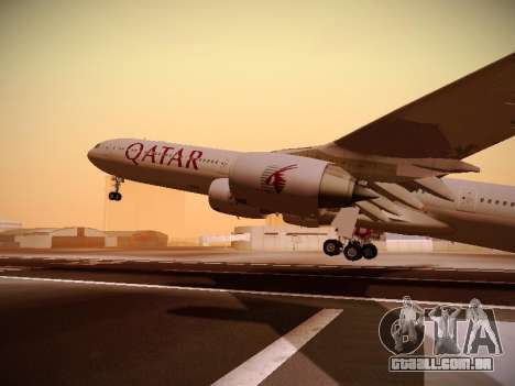 Airbus A340-600 Qatar Airways para GTA San Andreas vista superior