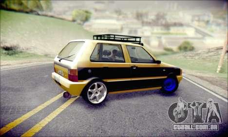 Fiat Uno para GTA San Andreas vista interior