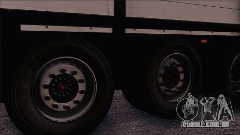 Krone SPD27 Systra Logistik para GTA San Andreas traseira esquerda vista