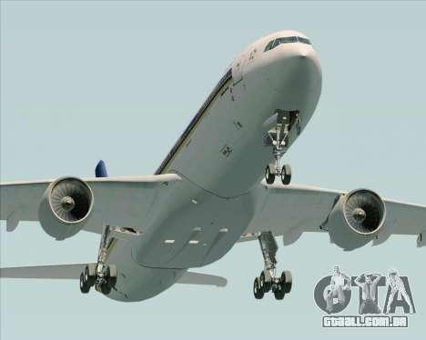 Airbus A330-300 Singapore Airlines para vista lateral GTA San Andreas