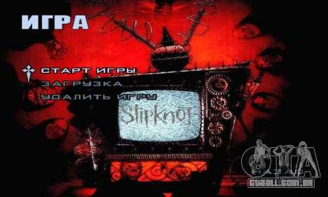 Metal Menu - Slipknot para GTA San Andreas segunda tela