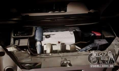 Peugeot RCZ para GTA San Andreas vista interior