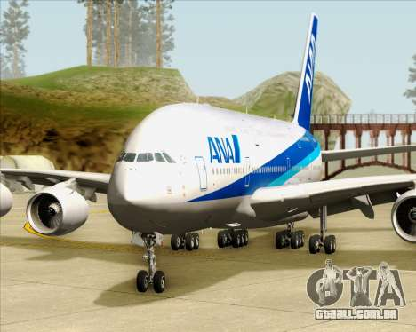 Airbus A380-800 All Nippon Airways (ANA) para GTA San Andreas vista inferior