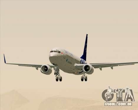 Boeing 737-86N Garuda Indonesia para GTA San Andreas vista interior