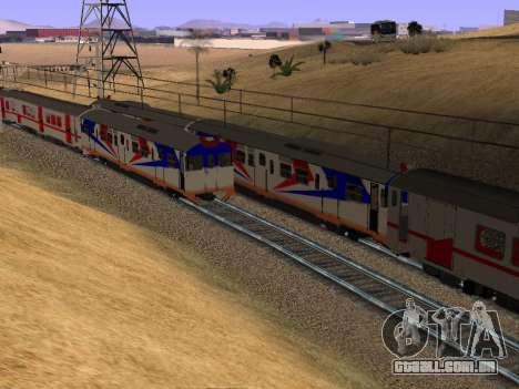 Indonésia trem de diesel MCW 302 para GTA San Andreas vista traseira