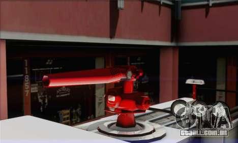 SAFD BRUTE Firetruck para GTA San Andreas traseira esquerda vista