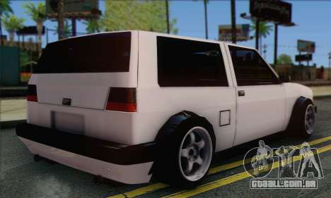 Volkswagen Club Mk2 para GTA San Andreas esquerda vista