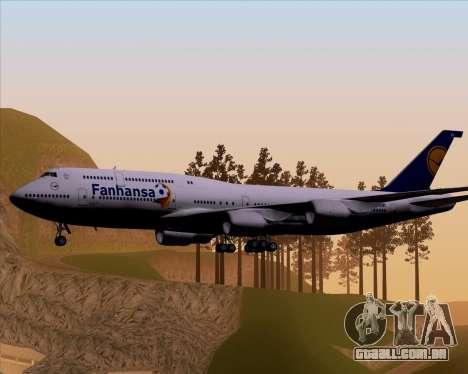 Boeing 747-830 Lufthansa - Fanhansa para GTA San Andreas vista direita