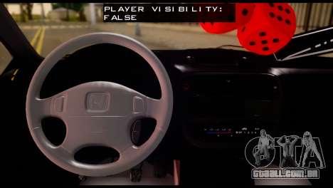 Honda Civic 1.4 Hatchback para GTA San Andreas traseira esquerda vista