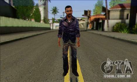 Lee from Walking Dead para GTA San Andreas