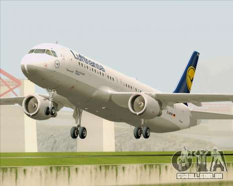 Airbus A320-211 Lufthansa para GTA San Andreas esquerda vista