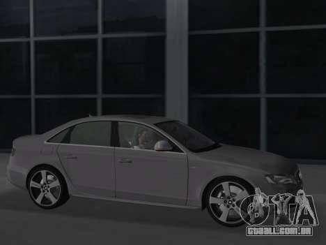 Audi S4 (B8) 2010 - Metallischen para GTA Vice City vista traseira