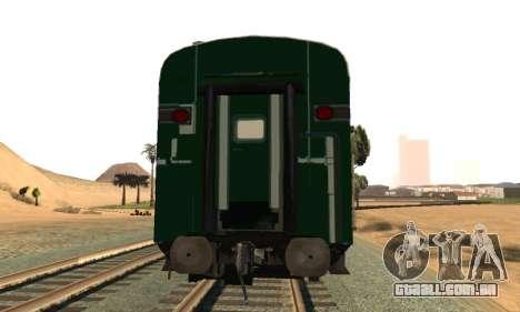 Pakistan Railways Train para GTA San Andreas vista direita