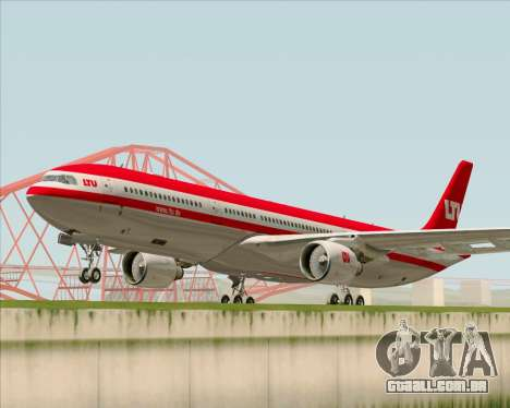 Airbus A330-300 LTU International para GTA San Andreas esquerda vista