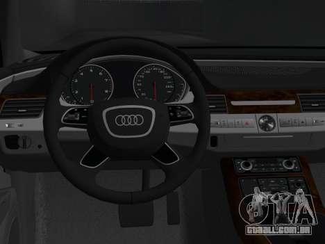 Audi A8 2010 W12 Rim1 para GTA Vice City vista traseira