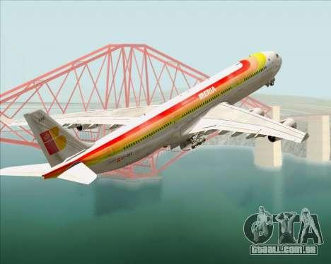 Airbus A340 -313 Iberia para as rodas de GTA San Andreas