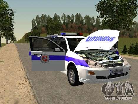 Ford Focus Polícia Nizhny Novgorod região para GTA San Andreas vista interior