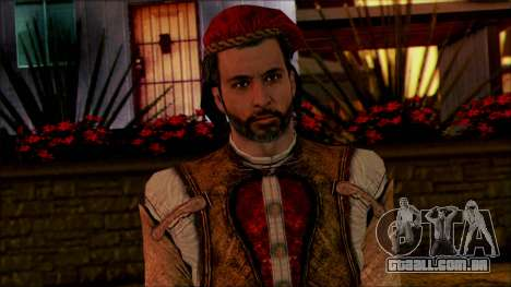 Ezio from Assassins Creed para GTA San Andreas terceira tela