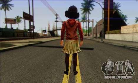 Klementine from Walking Dead para GTA San Andreas segunda tela