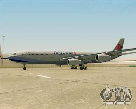 Airbus A340-313 China Airlines para GTA San Andreas vista inferior