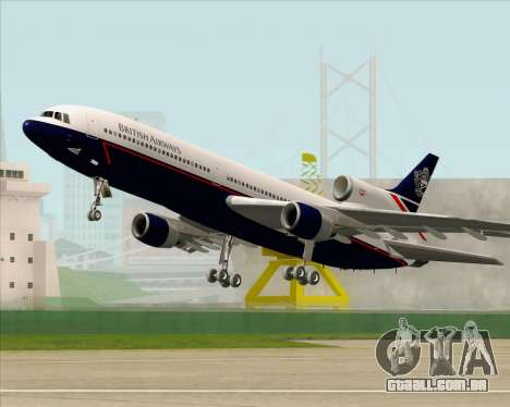 Lockheed L-1011 TriStar British Airways para GTA San Andreas vista inferior